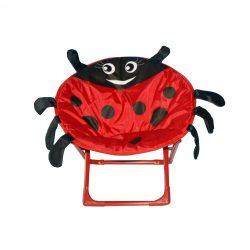 Fémvázas katicás gyerek fotel