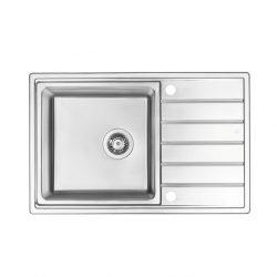 AVIOR Rozsdamentes mosogató, 1 medence + csepegtető, szatén, 780 x 500 mm