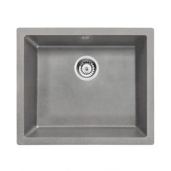 CORDA Gránit mosogató - alulról beépíthető, 1 medence, metál szürke, 550 x 460 mm